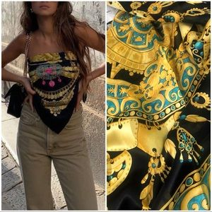 Vintage  Silk Twill Scarf/Wrap in Baroque